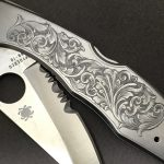 finished knife engraving