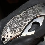 Finished engraving on knife